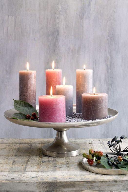 10 idee per usare le alzatine dei dolci   Candele decorate ...