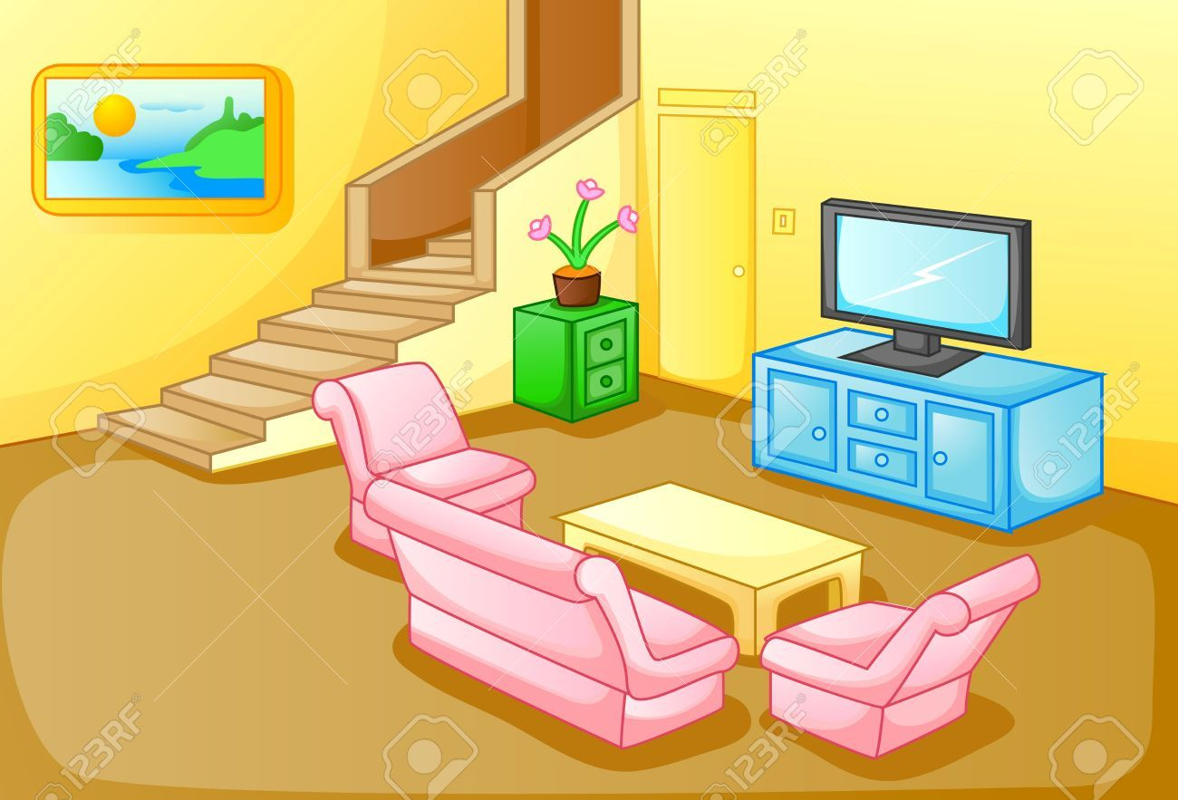 Living Room Clipart House Interior Pencil And In Color Living Room Clipart Living Room Vector Interior Renovation