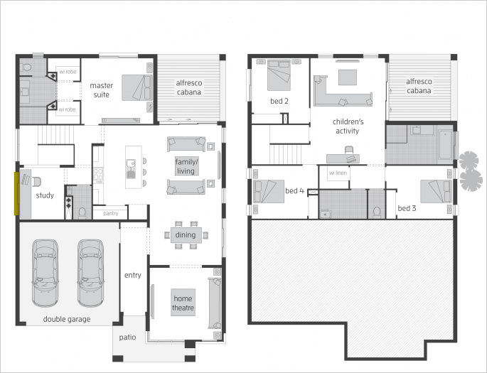 Floor Plan Friday Split Level Rear Split Level House Plans Floor Plans Two Storey House Plans