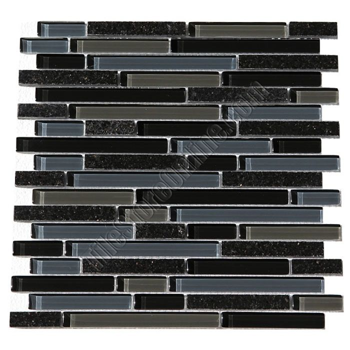 Glass Tile Bellavita Sierra Vista SVBGG Black Galaxy Blend