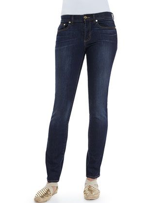 Skinny Basic Low-Rise Jeans by Tory Burch at Neiman Marcus.