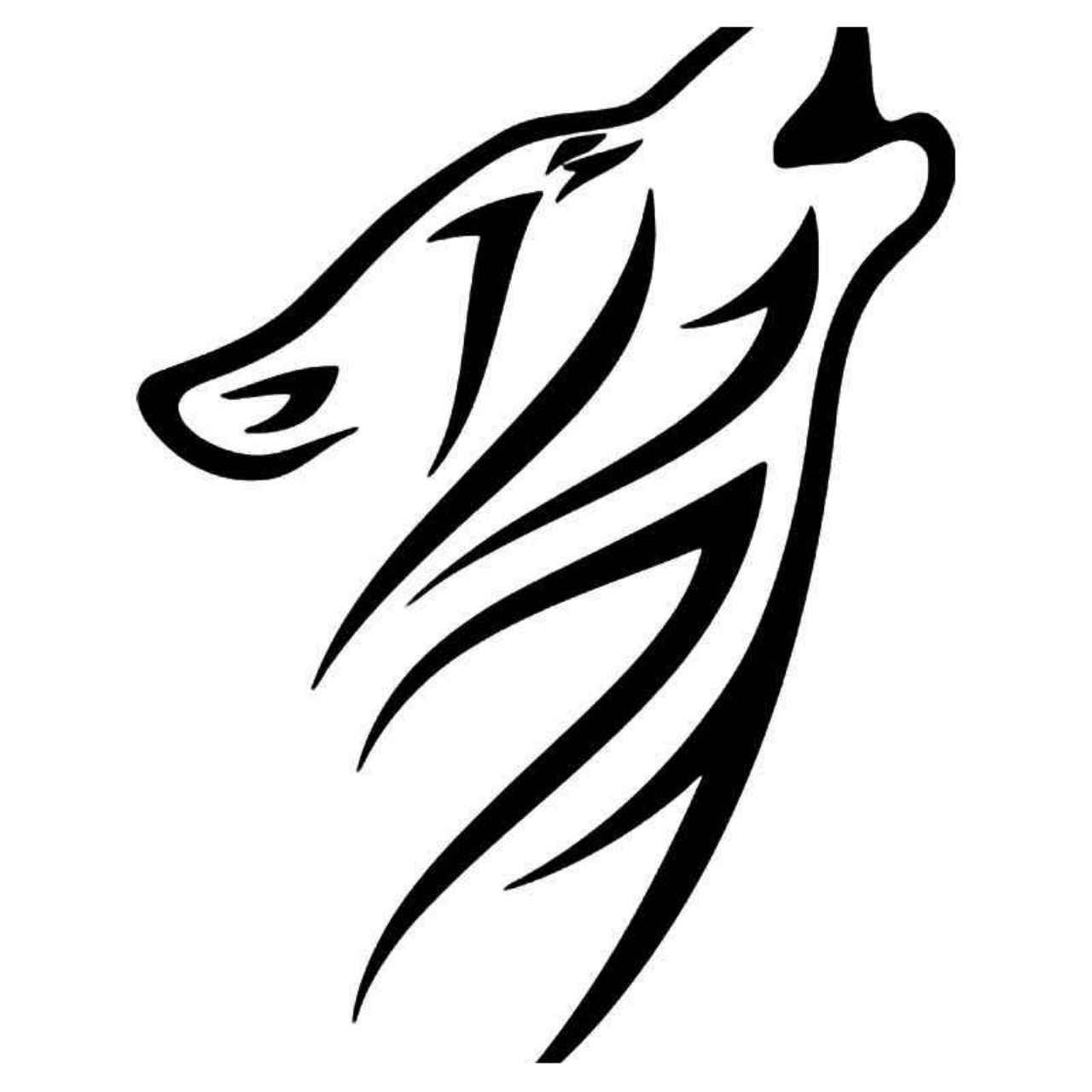 Tribal Wolf 7 Vinyl Decal Sticker With Images