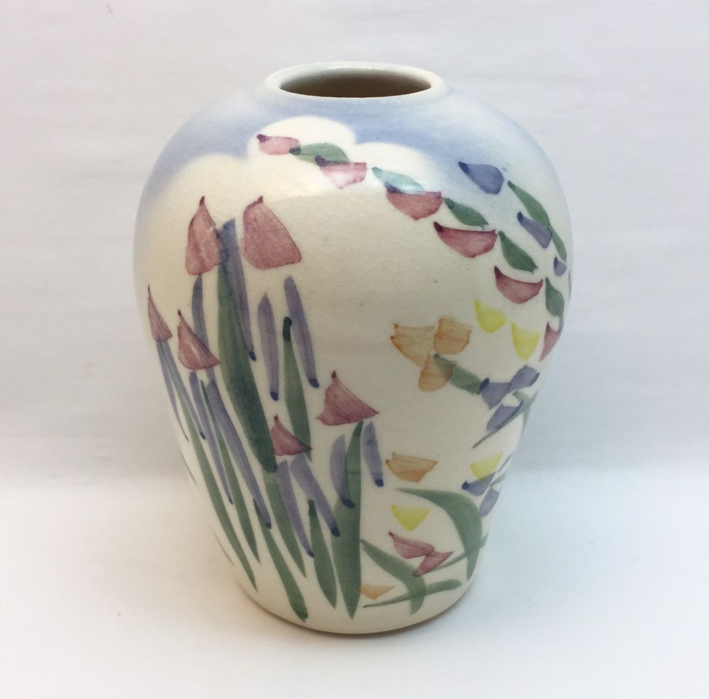 Art pottery floral vase studio handcrafted signed crandall vases art pottery floral vase studio handcrafted signed crandall reviewsmspy