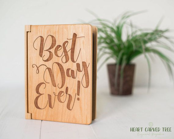 best day photo album wood wedding photo album 4x6 photos