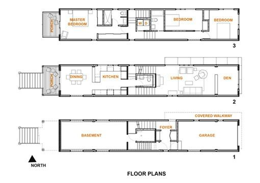 A 12 5 Foot Wide Skinny Chicago House Narrow House Plans House Plans Narrow House Designs