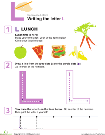Practice Writing Letters The Letter L  Writing Letters