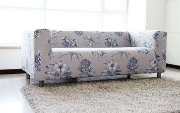 Custom Floral Velvet Sofa Cover For The IKEA KLIPPAN 2 Seater 229$