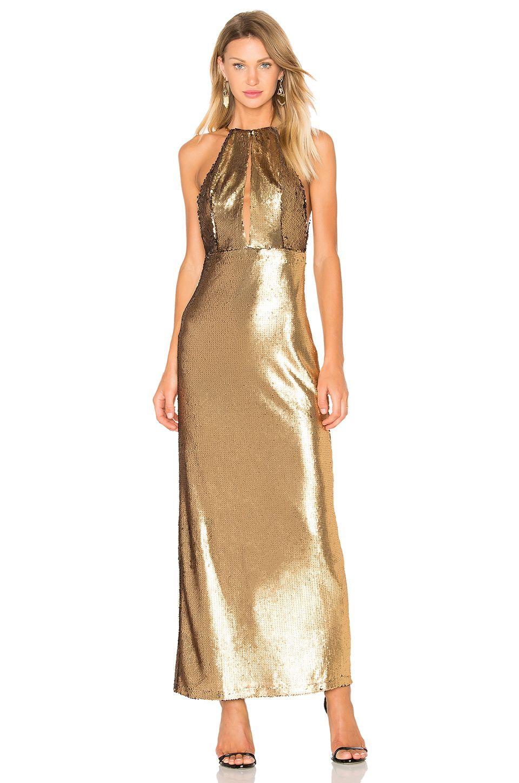 432d0e7b1d81a House of Harlow 1960 x REVOLVE Ali Sequin Maxi in Gold | REVOLVE ...