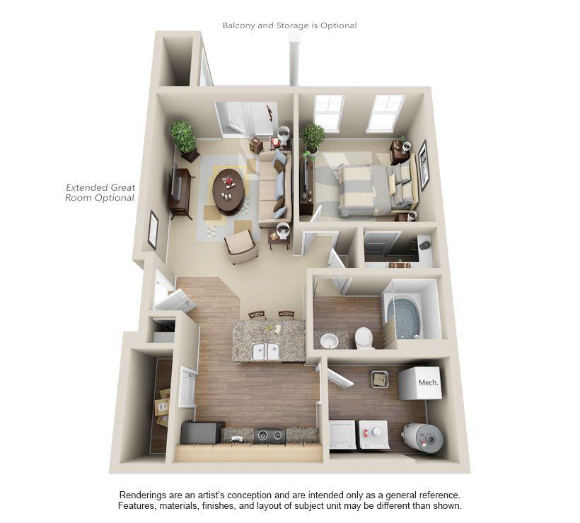 Tgm Creekside Village Apartments Real Estate Investment Advisers Tgm Associates Floorplans