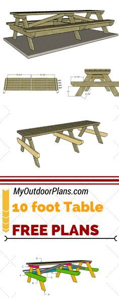 10 Foot Picnic Table Plans Diy Picnic Table Picnic Table Plans