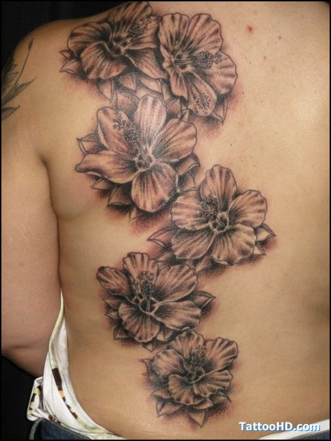 tatouage fleur hibiscus dos complet femme cj7e3as tatouage pinterest tatouage fleur. Black Bedroom Furniture Sets. Home Design Ideas