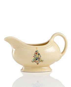 Fiesta Dinnerware, Christmas Tree Gravy Boat - Casual ...