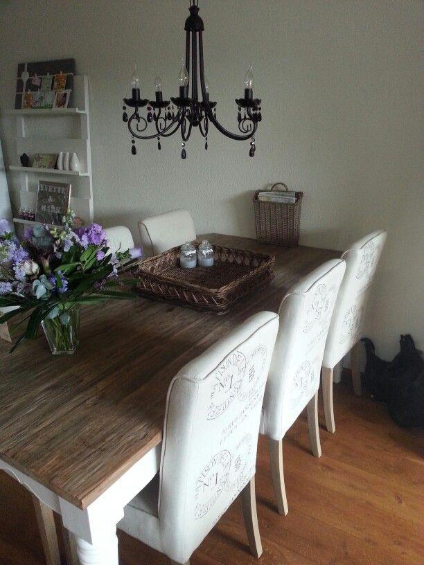 Riviera maison stoelen en tafel in de woonkamer | Home sweet home ...