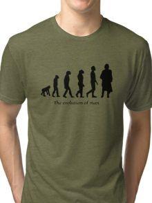 The evolution of man/ To Jamie Fraser Tri-blend T-Shirt