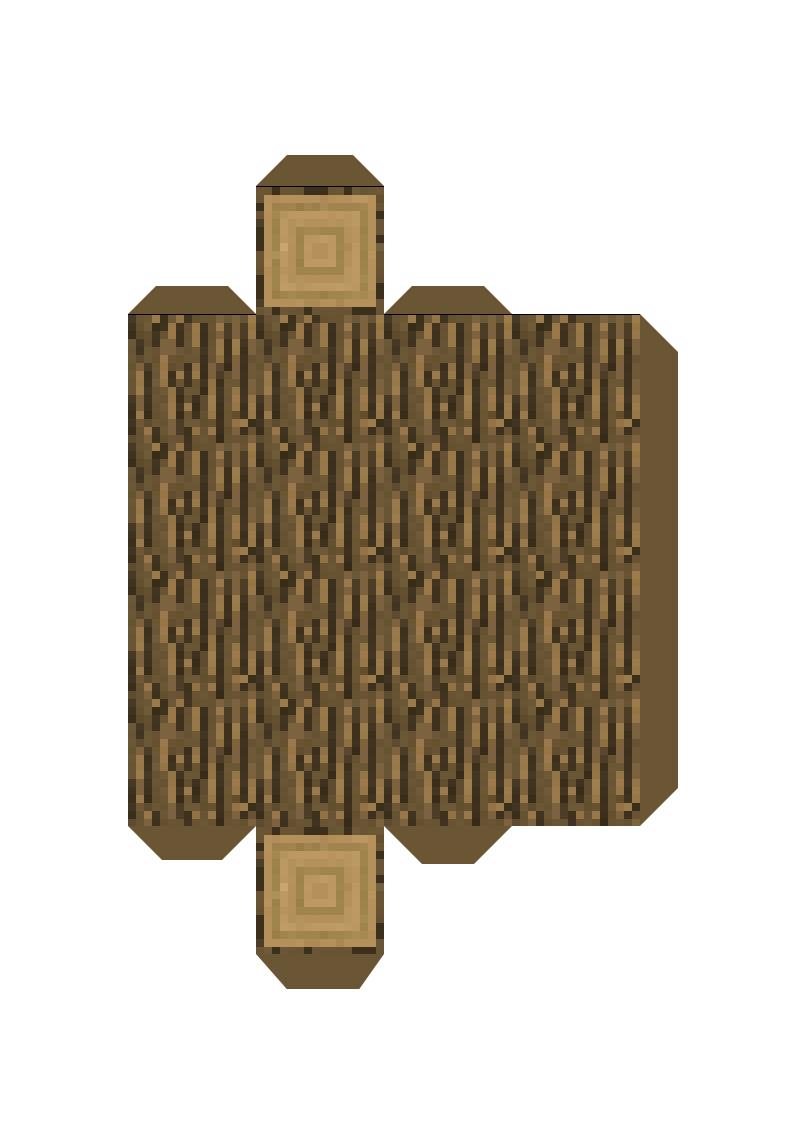 Papercraft Tree Minecraft Crafts Minecraft Templates Minecraft Printables