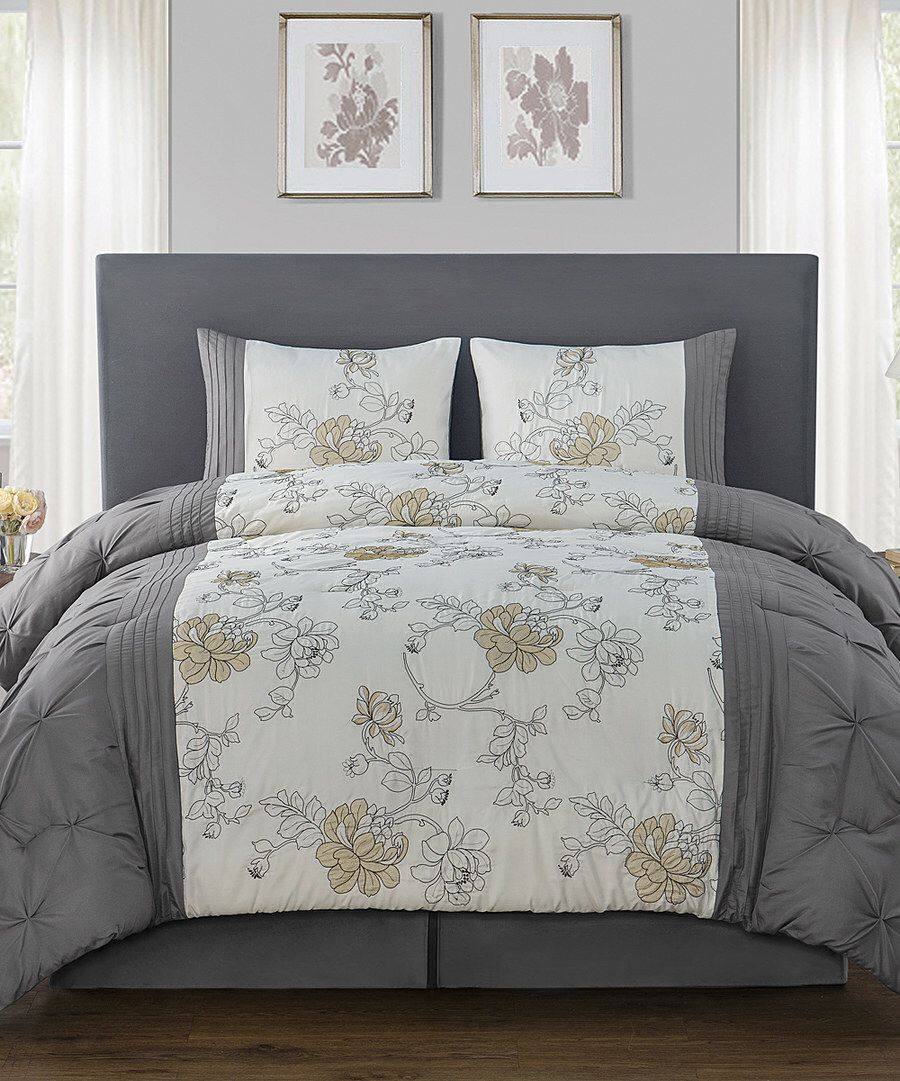 Look at this Gray Alexis Comforter Set on #zulily today!