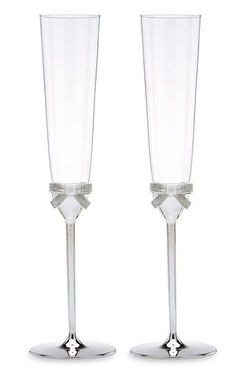 kate spade new york 'grace avenue' toasting flutes (set of 2)... And has matching cake cutting set and tons of other matching pieces. LOVE THESE!!