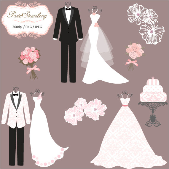 3 Luxury Wedding Dress 2 Tuxedos Personal Or Small Commercial Use P035