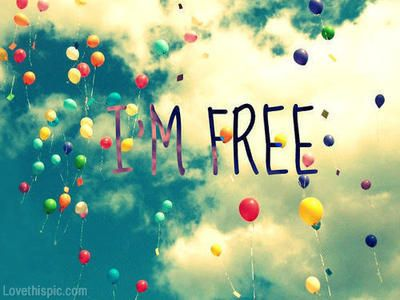 Im Free Quotes Colorful Clouds Cool Life Quote Balloons Floating