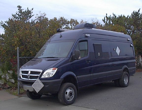 whitefeather 4x4 sprinter 3500 van for canadian government. Black Bedroom Furniture Sets. Home Design Ideas