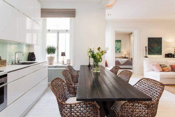 awesome Salle à manger - Salon salle à manger chaises en rotin pour