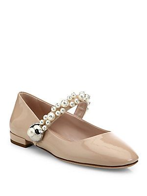 sale looking for Miu Miu Patent Leather Mary Jane Flats outlet choice discount visit new pick a best online xN4ggvqj8x