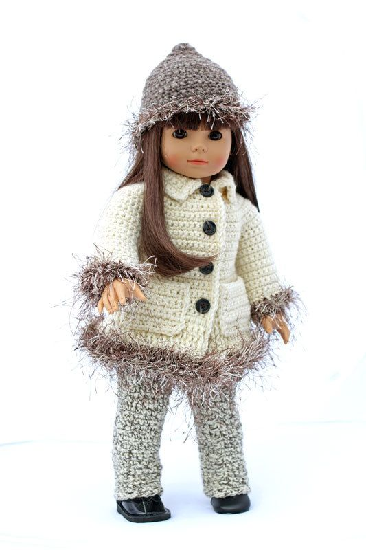 Dolly It\'s Cold Outside Crochet Pattern, To Fit 18 inch Dolls ...