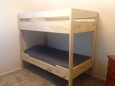 Diy Bunk Bed For Under 100 Youtube Diy Bunk Bed Bunk Beds