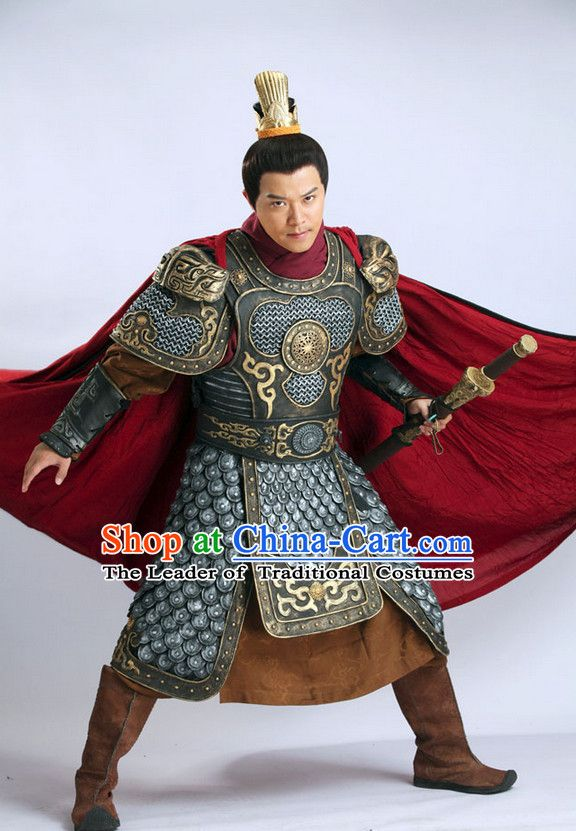 8b981ce96 Chinese Ancient Superhero Fighter General Armor Costume and Helmet Complete  Set