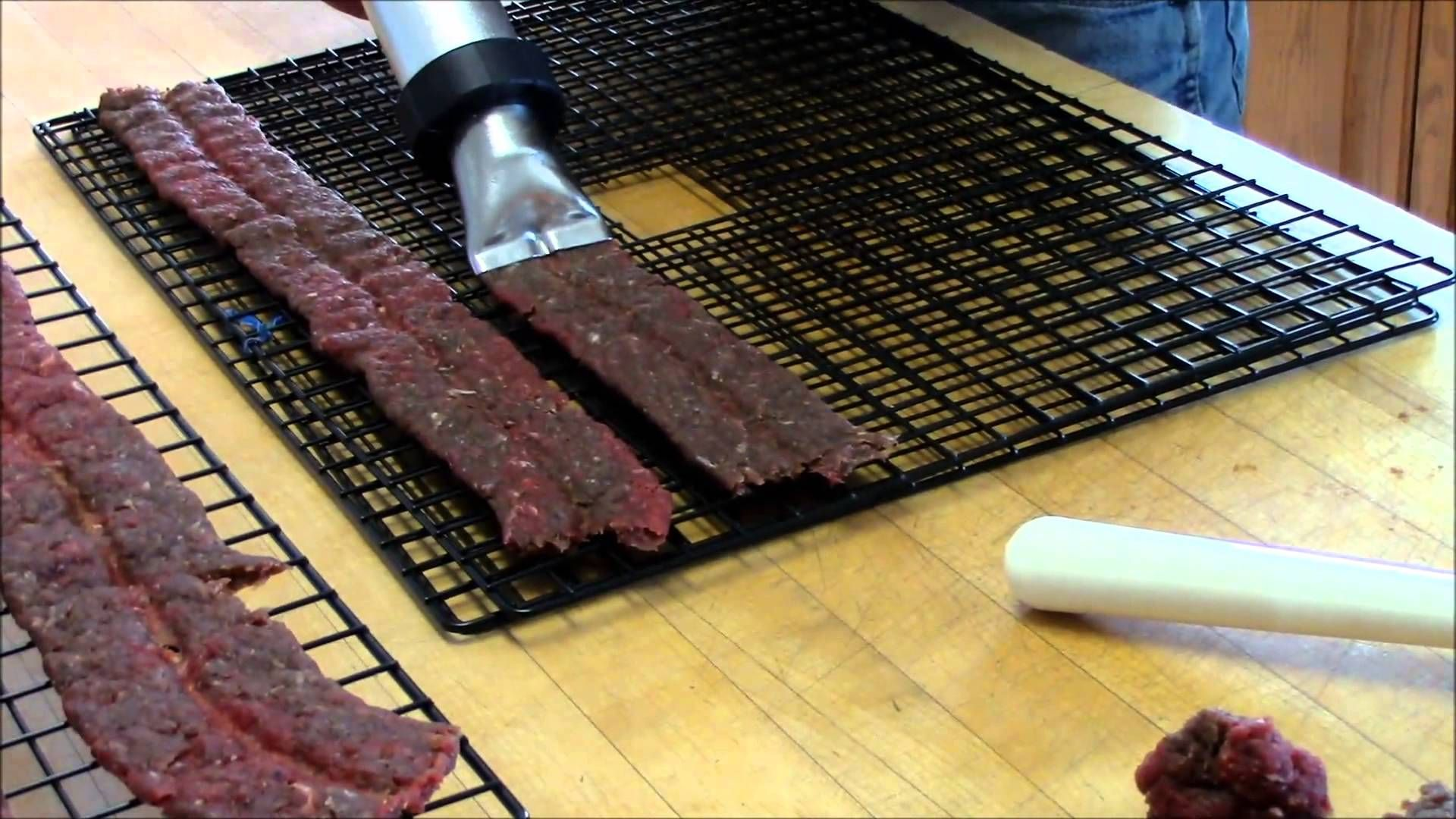 Homemade Ground Venison Jerky Making Deer Jerky With Our Jerky Blaster For Information On Canning Venison Or Elk Visit H Venison Jerky Ground Venison Venison