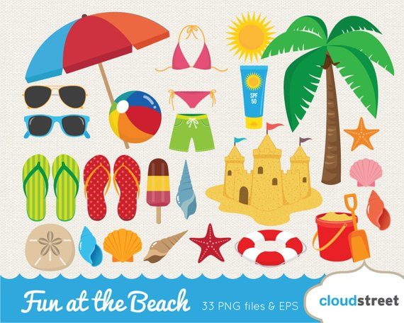 084d10b0df6e5 BUY 2 GET 1 FREE Fun at the beach clipart   vector beach clip art   summer  clipart   summer clip art