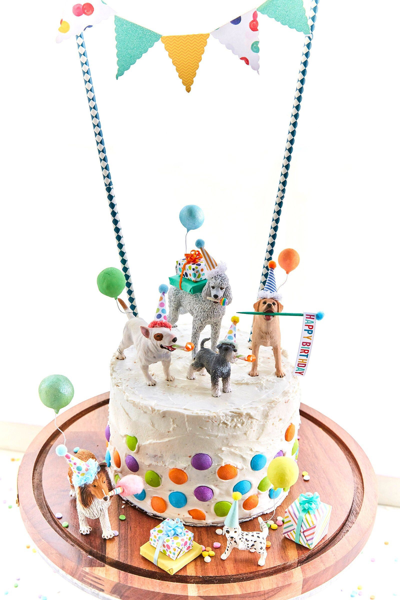 Dog Birthday Party Dog Cake Toppers Dog Party Labrador Cake