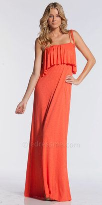 dcbdc15c6cd ShopStyle  Ruffle Bust Maxi with Tie Spaghetti Straps by Elan International