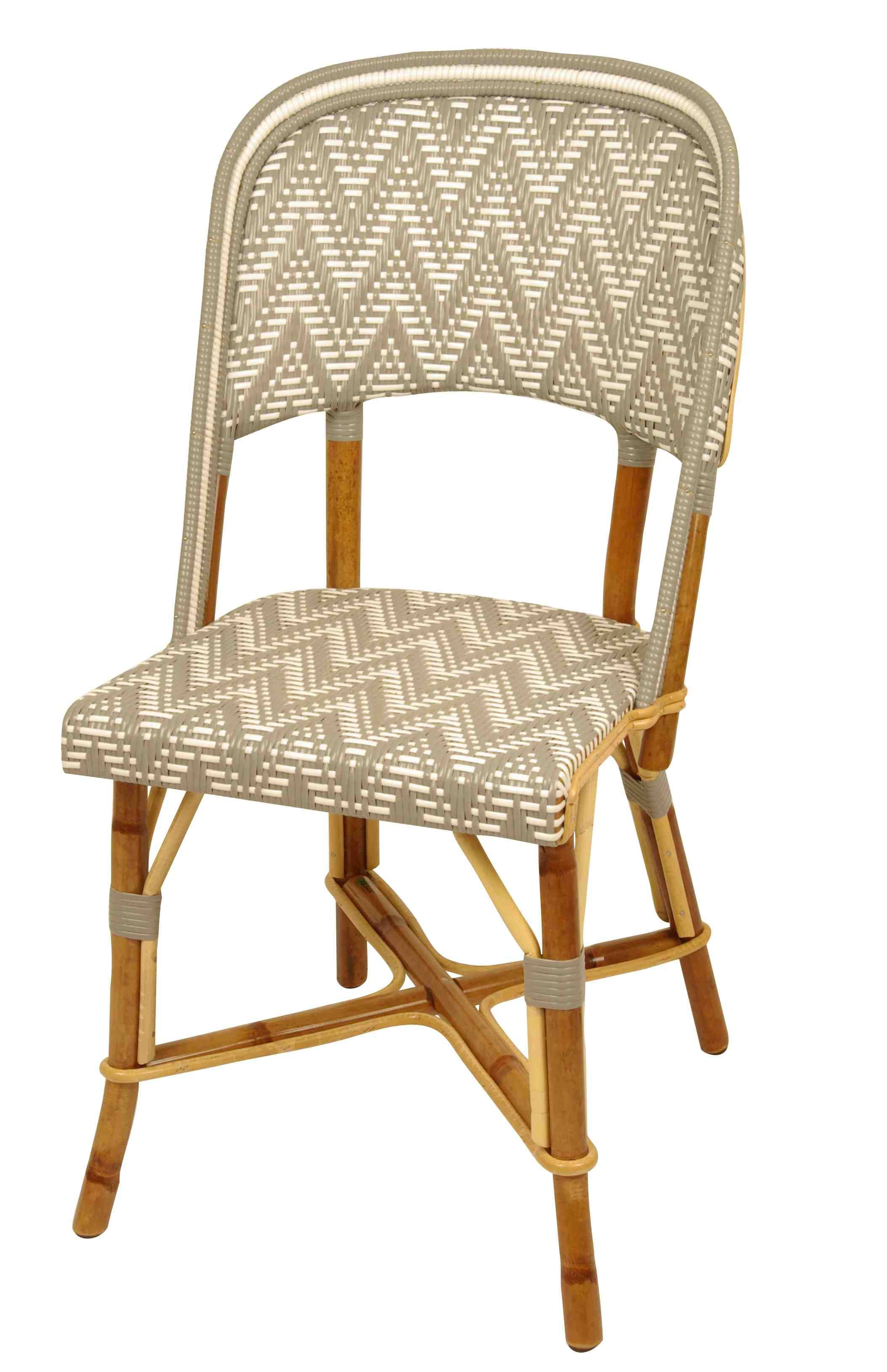 french rattan bistro chairs chair design wing chaise seine from drucker collection