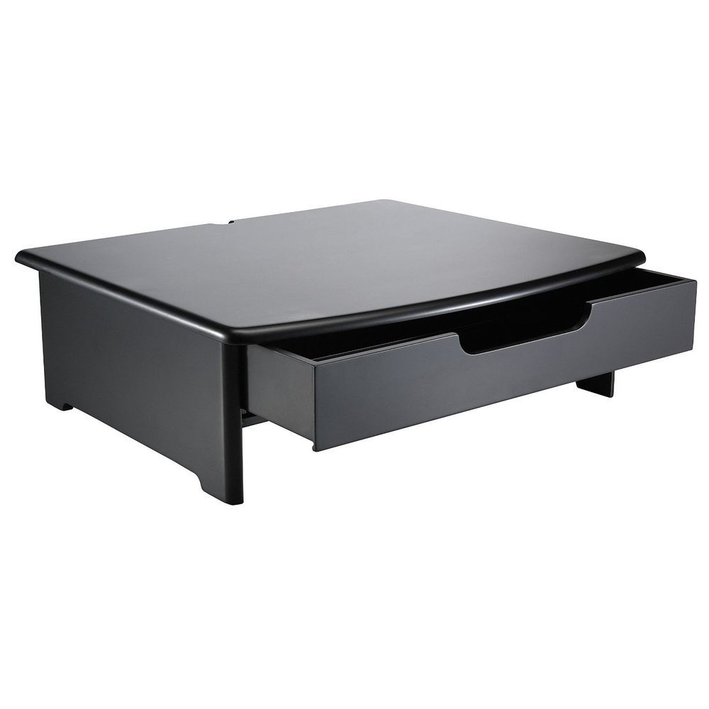 Computer Monitor Riser Laptop Comfort Desk Stand Drawer