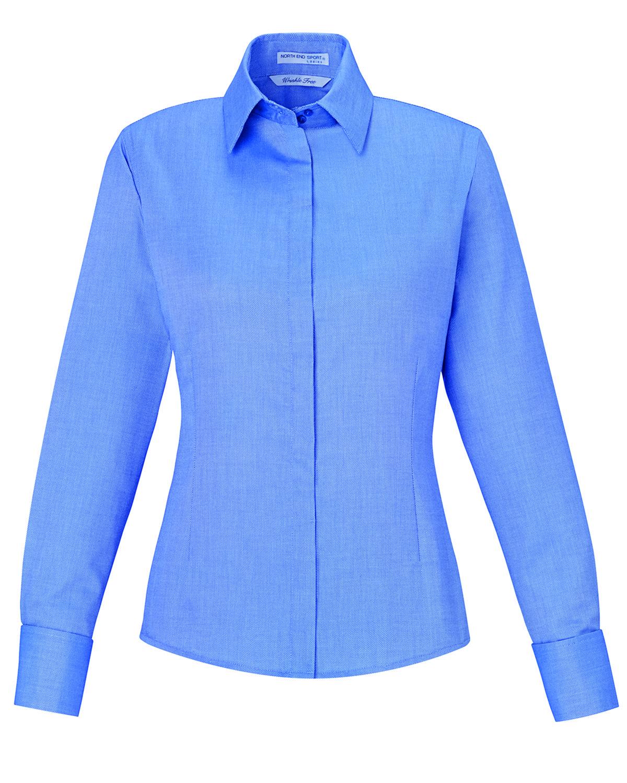 234cc519f09 North End Sport Blue Womens Refine Wrinkle-Free Royal Oxford Cotton ...