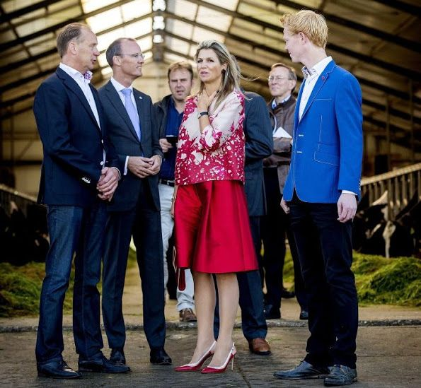 Queen Maxima visits cheese factory and farm in Friesland