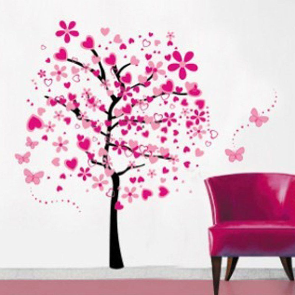 Cartoon Arbre Papillon Diy Stickers Muraux Ividz Arbres Stickers