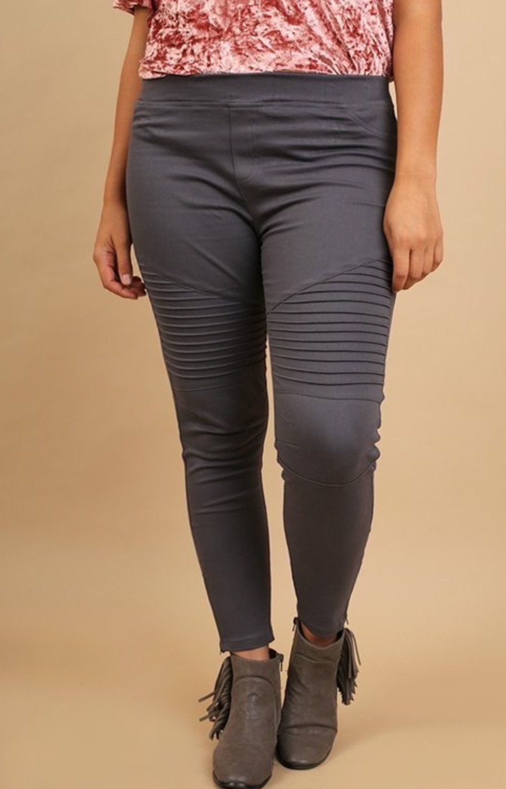 c37c988b15e48 Umgee Washed Moto Jeggings with Pintuck   Zipper Detail