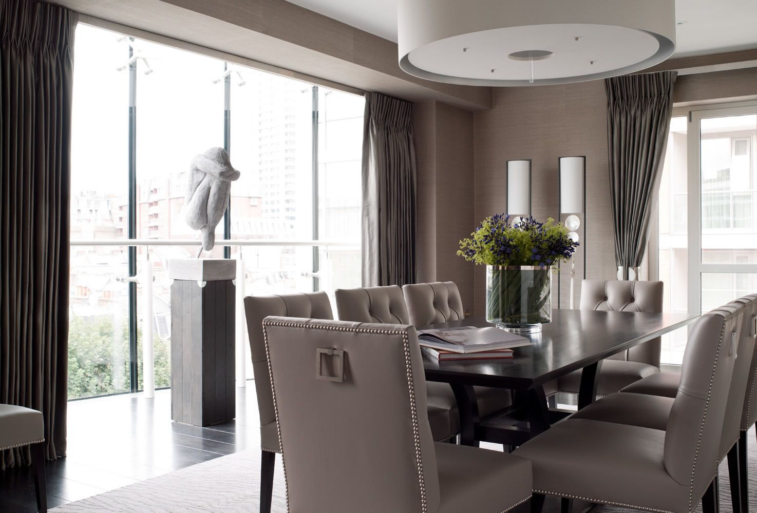 Contemporary Classic Dining Room In A Gorgeous Shade Of Taupe
