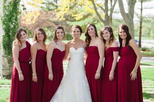 autumn colored bridesmaid dresses - Fall Colored Bridesmaid Dresses