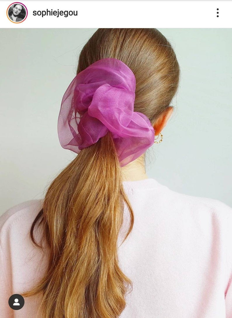 Maxi Scrunchie  PICK YOUR COLOR  Organza Scrunchy Sheer Hair | Etsy
