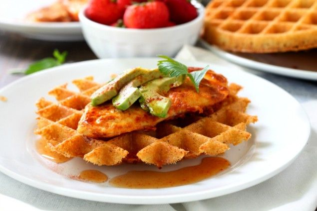 Who doesn't love a delicious meal of chicken and mashed potatoes? Want to know what's even better? A dish of chicken served atop mashed potato waffles.