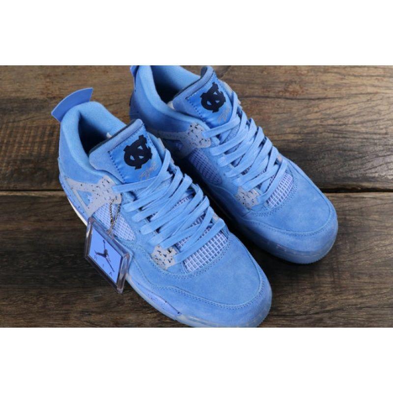 "Air Jordan 4 Retro ""unc Pe"" Sky Blue/white Aj41032070 For"