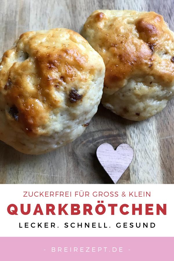 Quarkbrötchen backen ohne Zucker
