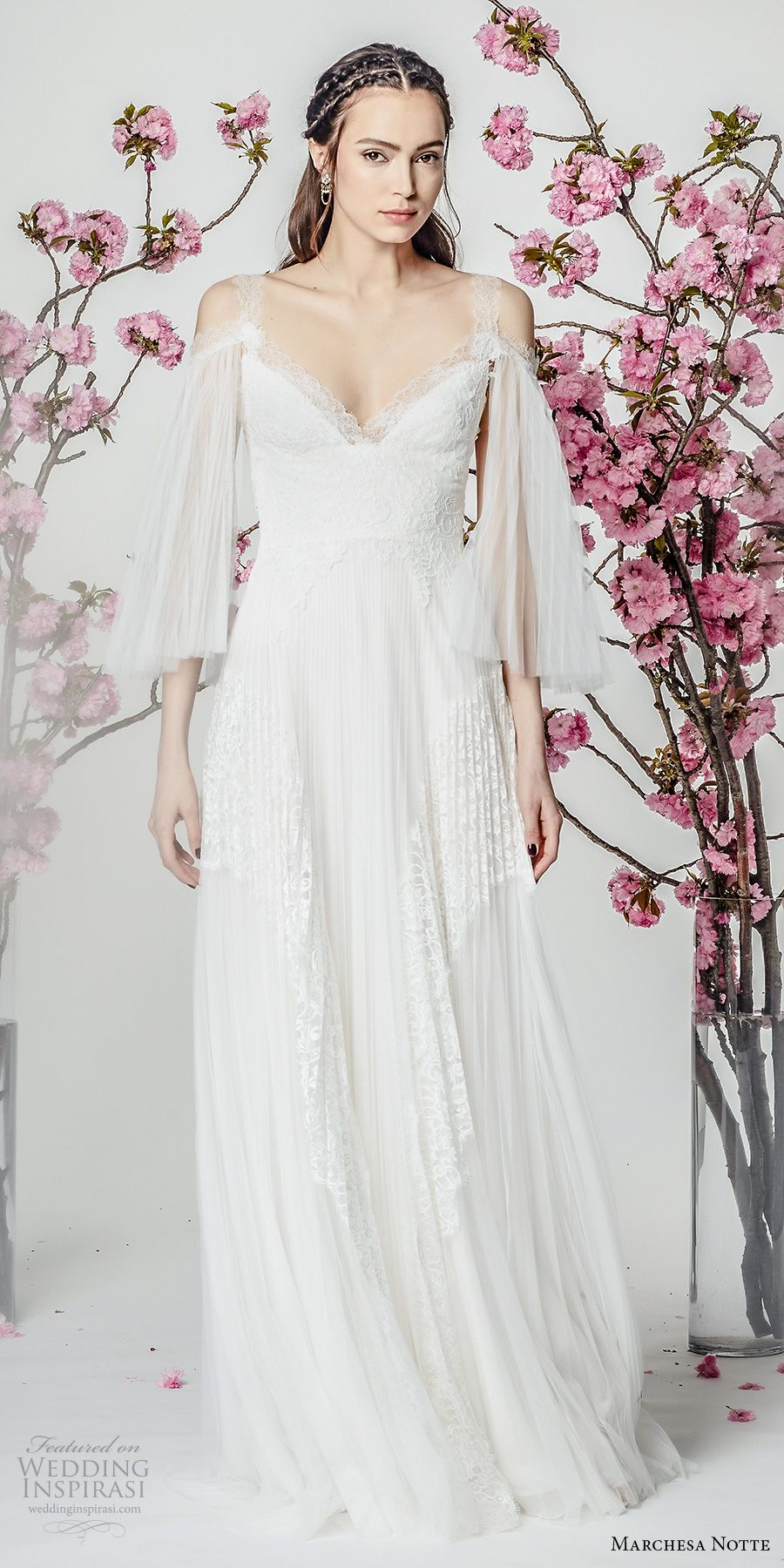 Marchesa notte spring wedding dresses marchesa cold shoulder