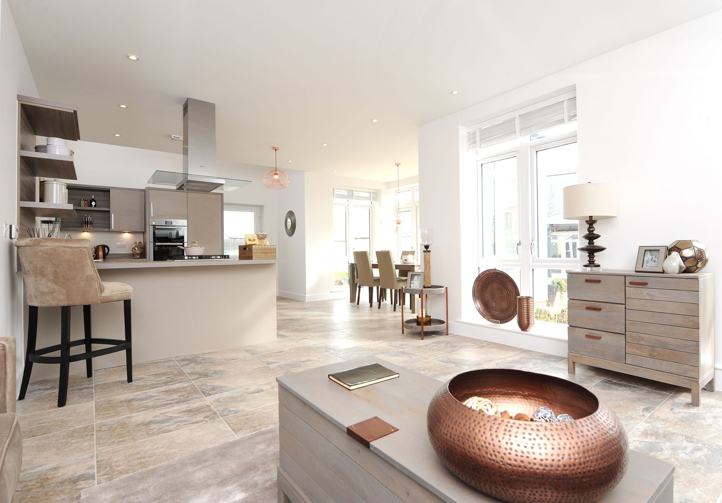 Open Plan Living In Our 2 3 Bedroom Bungalows At Terlingham Gardens Hawkinge A Gated Dev Open Plan Kitchen Dining Open Plan Kitchen Interior Design And Build