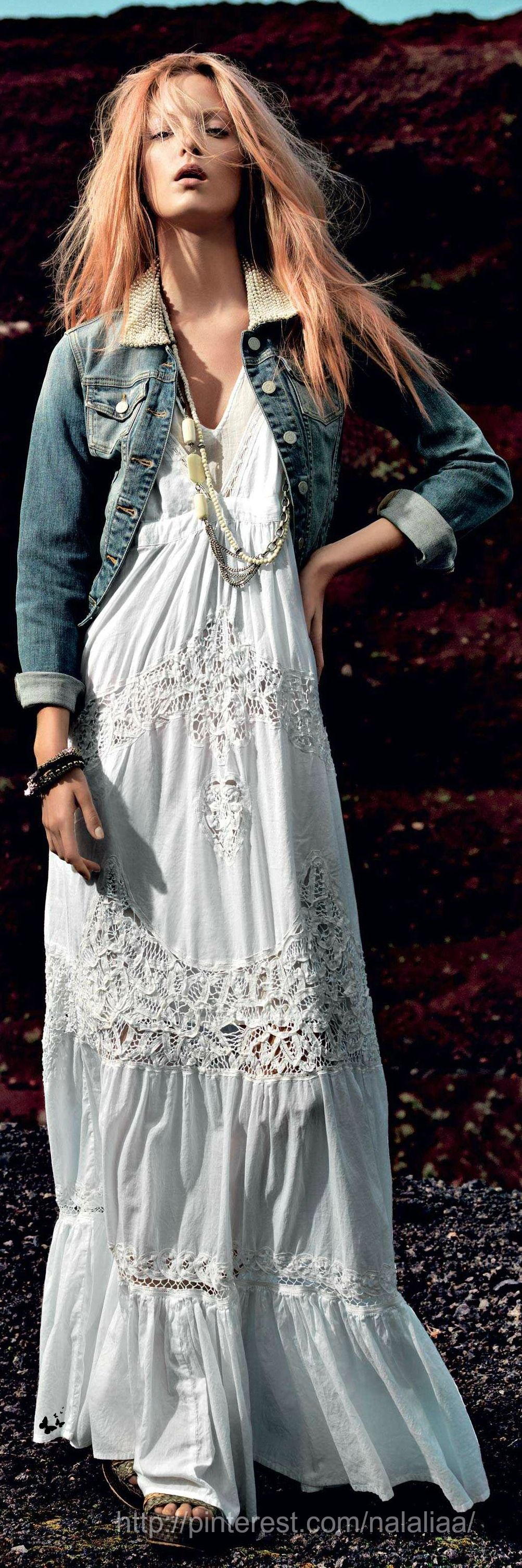 style boh me robe longue blanche robelongue blanche style boh me hippie ethnique indien. Black Bedroom Furniture Sets. Home Design Ideas