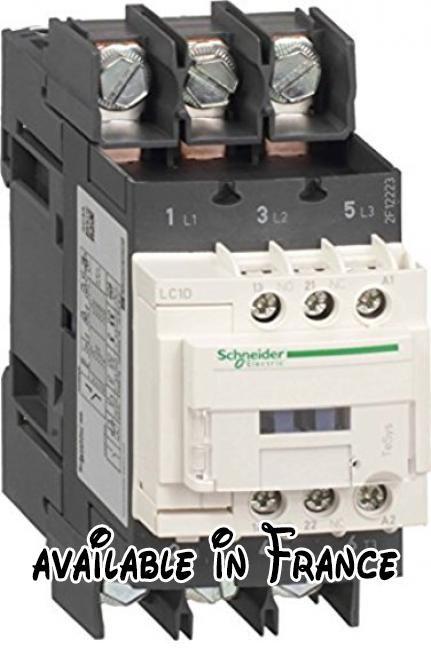 Schneider Electric Lc1d40 a6bd Contacteur 40 A 24 V, Contacteur