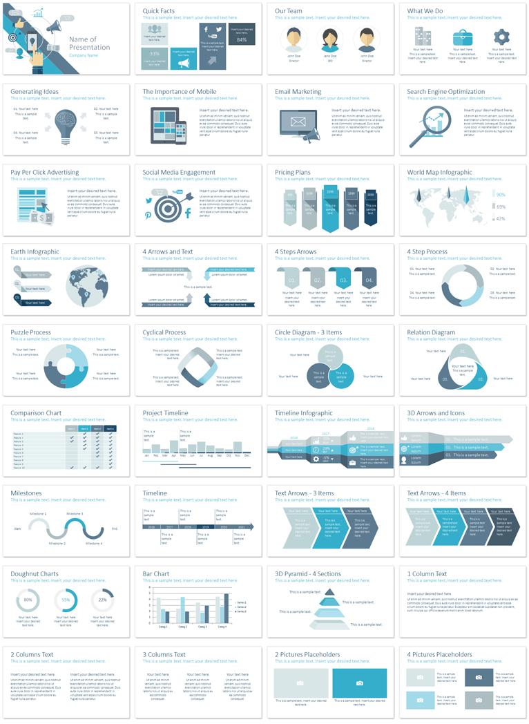 Digital Marketing Powerpoint Template Powerpoint Design